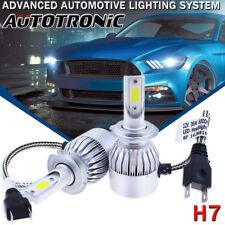 2Pcs H7 LED Headlight Bulb Conversion Kit High Low Beam Fog Lamp 6000K HID White