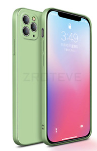 Coque Ultra Fine Iphone 12 pro uniquement souple ULTRA FIT  Vert  avec logo