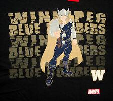 Marvel Comics CFL Canadian Football Thor Winnipeg Blue Bombers T-Shirt New XL