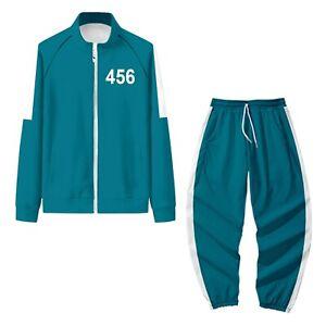 Squid Game Jacket Pants Round Six Men Women Costumes Cosplay Sports Zipper 456