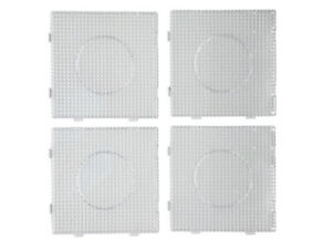4 Stück, Bügelperlen Stiftplatten, Steckplatten, einzeln und als eine Fläche