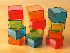 12pcs Small Plastic Square Storage Container Box 4 Color Tiny Beads jewelry