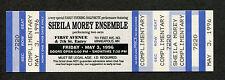 1996 Sheila Morey Ensemble Unused Concert Ticket First Avenue Minneapolis