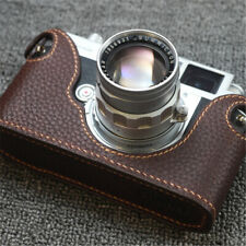 VOIGTLANDER Bessa R2M Half Case Camera Insert Genuine Leather Funper Handmade