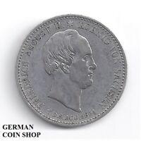 Königreich Sachsen 1/3 Taler Silber - Auf des Königs Tod 1854