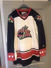 Vintage Columbus Blue Jackets Pro Player Hockey Jersey Size Large Stinger VTG