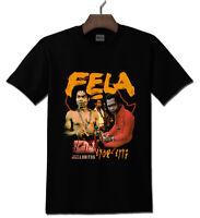 Fela Kuti Musician Composer Gildan Black T shirt S - 2XL