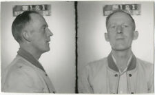 Photo Bertillon identification Policière Police Mug Shot Usa Intox Drive 1949