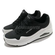 Skechers uno-cronología Negro Blanco Zapatos Tenis Para Hombre Estilo de vida informal 232247-BKW