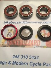 Honda CR125 CR250 1990-99 CR500 1990 - 2001 REAR wheel bearings & Seals Kit NEW!