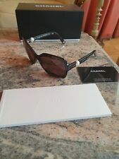 Ladies Chanel Collection Brown Perle Pearl Sunglasses Genuine  c.714/3G