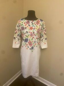 $4,OOO NEW WITHOUT TAGS R2017 OSCAR DE LA RENTA STUNNING FLORAL WHT RUNWAY Sz 8