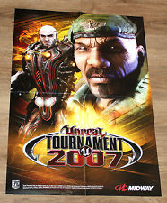 Unreal Tournament 3 2007 very rare Promo Poster 59x42cm Xbox 360 PS3