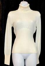 jean paul gaultier Sweater Ivory Knit Corset Back Longsleeve Turtleneck Size M