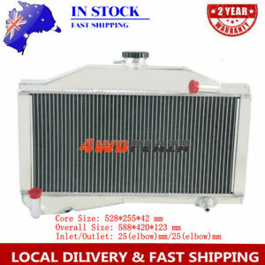 2ROW Aluminium Radiator For MORRIS MINOR 1000 948/1098 1955-1971 New