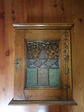 Hängeschrank antik um 1900 Vintage Wandschrank Apotheker Glasschrank Landhaus