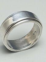 925 Silber Bandring Drehring punziert/ 80er Jahre - RG 57/18,1mm / A 822