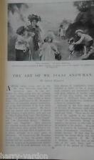 Art Artist Mr Isaac Snowman Scarce Old Antique illustrated Article 1904 Jewish