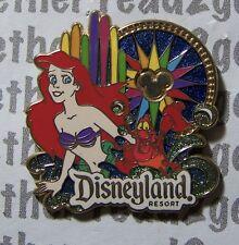 Disney Pin DLR Walt Disney Travel Company World of Color Ariel and Sebastian