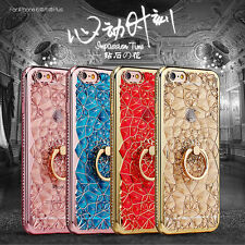 Shockproof Luxury Bling Diamond Frame Stand Holder Cover Case For iPhone 8 6 7 5
