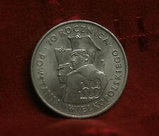 Poland 100 Zlotych 1988 World Coin Eagle wings Polish Wielkopolskiego Polska