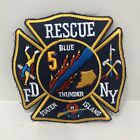 FDNY Rescue 5 New York Patch Firefighter Blue Thunder Staten Island