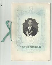 Grand Lodge Scottish Freemasonry India 1938 Masons Souvenir Freemasons Scotland