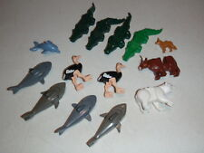 Lego Animal Minifig Lot w/ Ostrich Sharks Dog Crocodiles Cow Polar Bear More