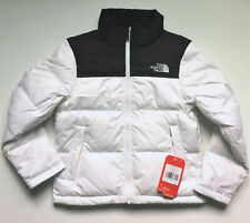 NEW $160 NORTH FACE GIRLS NUPTSE DOWN INSULATED JACKET M MEDIUM 10 12 WHITE