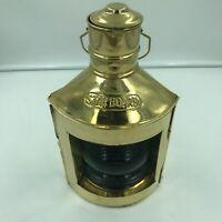 "Two Ship Gold 12"" Lanterns Lamps Starboard & Port Masthead, Pirate, Hanging"