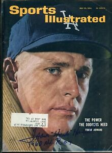 FRANK HOWARD LOS ANGELES DODGERS SPORTS ILLUSTRATED signed autographed