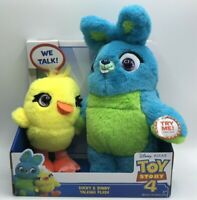 Toy Story 4 Ducky & Bunny Talking Plush Hold Hands to Talk Super Cute Brand New