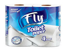 White Toilet Tissue Rolls Paper Luxury Soft Tissues for Toilet, Kitchen, Work