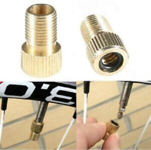 2 x Presta to Schrader Tyre Valve Adapter Converter Bike Wheel Bicycle Foot Pump