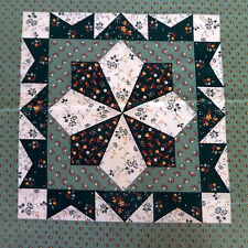 Wamsutta Fabric Panel 2 Squares Green Fabric Country Quilting Vintage