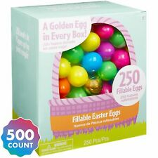 Party City Multi-colored Fillable Easter Eggs Plastic 500 Count