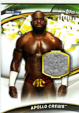 """APOLLO CREWS """"SHIRT RELIC CARD /199"""" TOPPS WWE MONEY IN THE BANK 2019 FREE S/H"""