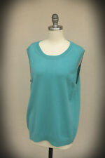 MCDUFF 100% Cashmere Size XL Bkue Sleeveless Sweater