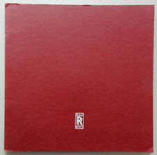 V15710 ROLLS ORYCE 1989 - CATALOGUE - 29x29 - IT