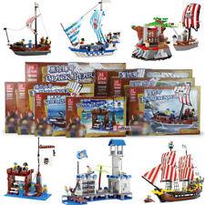 Cool Pirates Ships Castles Battles Building Bricks Toys Construction Blocks Kits