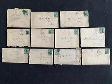 TCStamps 11 Sc# 214 Washington 2 Cent Postage Stamp Covers 1888-90 Keokuk IA 341