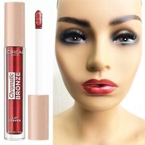 L'Oréal Red Metallic Lip Gloss Lipgloss Lipstick Chromatic Topper Red Tonic