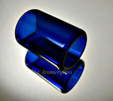 Real BottleNeck Guitar Slide Deluxe Cobalt Hand Polished Dobro Parlor 1 3/4""