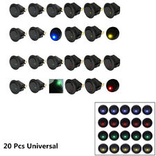 Universal 20 Pcs LED Dot Light Car Boat Round Rocker ON/OFF Toggle Switch Sales