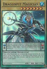 3X YU-GI-OH CARD: DRAGONPIT MAGICIAN - SUPER RARE - PEVO-EN014 - 1ST EDITION