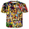 Fashion The Simpsons Funny 3D Print T-Shirt Women/men's Casual Short Sleeve
