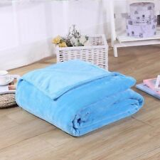 """Soft Micro plush Flannel Fleece Throw Blanket New 50""""x 60"""" All Colors"""