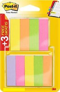 3m Post it Paper Page Marker 25 x 76 mm 5 Neon Colours