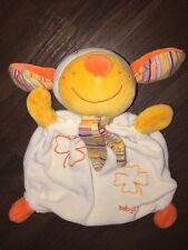 Baby Fehn Schmusetuch Kuscheltuch Schnuffeltuch Hund Kleeblatt Orange Gelb Bunt