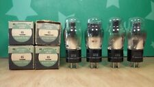 Closely Matched Quad of National Union Type 45 NOS NIB Vacuum Tubes